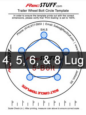 Trailer Wheel Bolt Pattern Template Recstuff Com